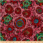 0262541 Flower Power Large Floral Coral