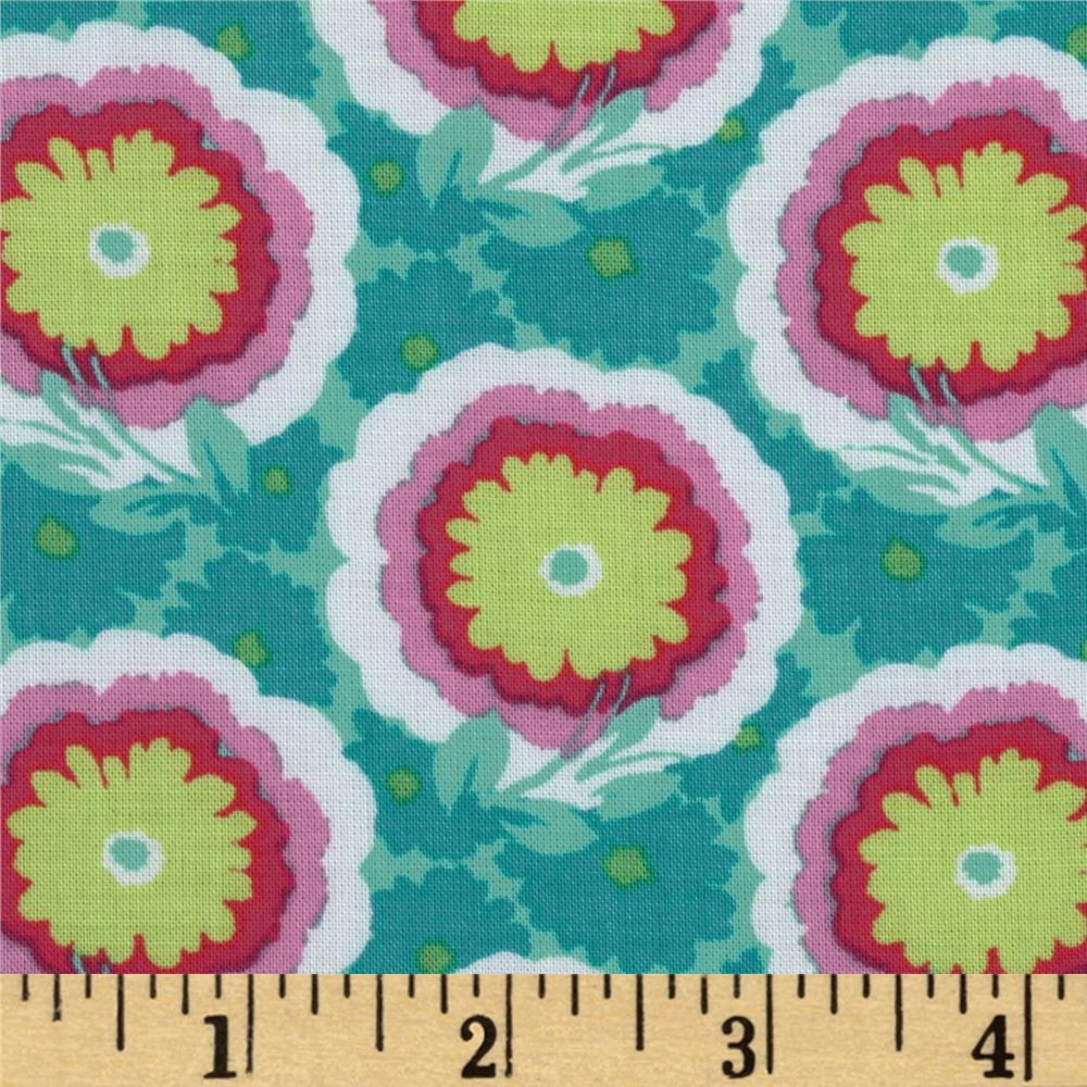 Amy Butler Soul Blossoms Rayon Challis Laurel Dots Spearmint