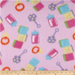 Novelty Fleece ABC Pink