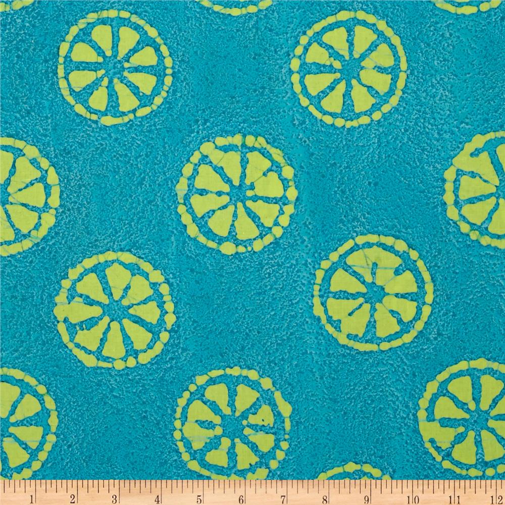 Indian Batik Lemondrop Aqua