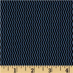Sketchbook Wavy Stripe Black/Blue
