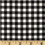 Gingham Flannel Black