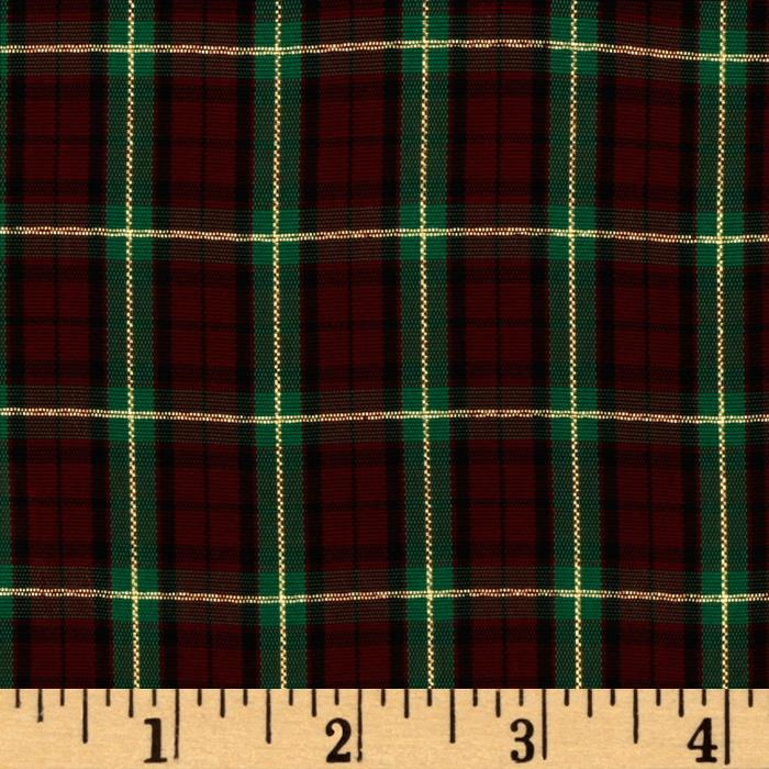 60'' Holiday Plaid Green/Metallic Gold