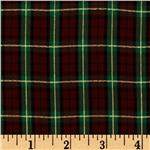 ET-137 60'' Holiday Plaid Green/Metallic Gold