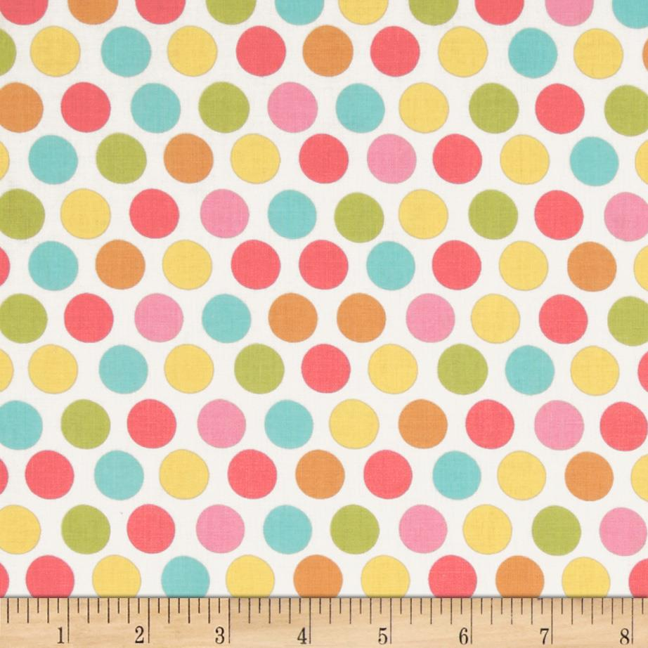 Michael Miller Sorbet Diddly Dot Yellow