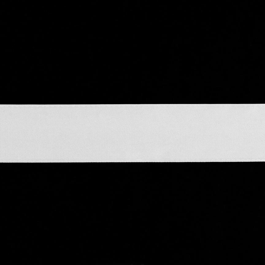 1 1/2&#39;&#39; Double-sided Satin Ribbon White