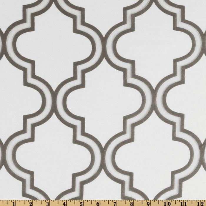 Softline Penrose Tile Burnout Drapery Sheers Silver/White