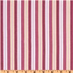 Poky Little Puppy Flannel Stripes Pink