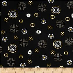 Mellow Yellow Small Circles Black
