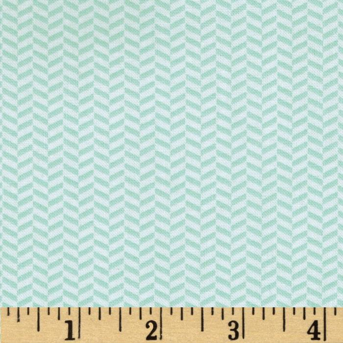 Riley Blake Willow Herringbone Green