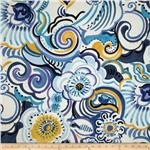 Folklorico Talavera Swirl Blue/White/Yellow