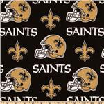 CV-134 NFL Cotton Broadcloth New Orleans Saints Black/Gold