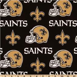 NFL Cotton Broadcloth New Orleans Saints Black/Gold