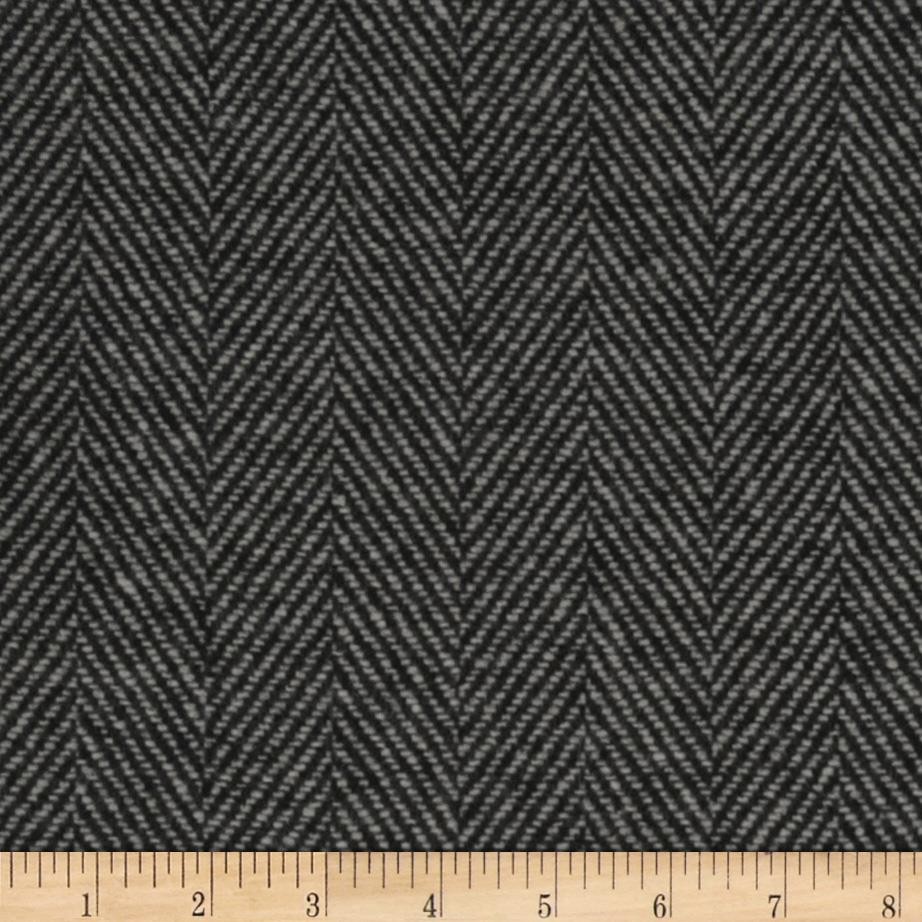 Wool Blend Coating Herringbone Grey/Black