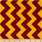 Riley Blake Medium Chevron Maroon/Gold