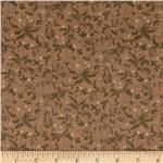 Twill Floral Vines Tan