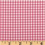 Woven 1/8&#39;&#39; Carolina Gingham Fuchsia