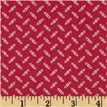 0267852 Wedgewood Tossed Floral Dark Red