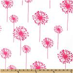 Premier Prints Dandelion White/Candy Pink