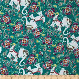 Kaufman 21 Wale Cool Cords Elephants Jade