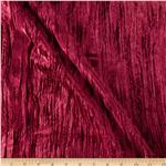 Oxford Cut Crushed Velvet Burgundy