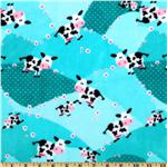 ER-055 Minky Cuddle Moo Moo Blossom Topaz
