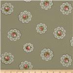 Hill Farm Floral Dots Grey