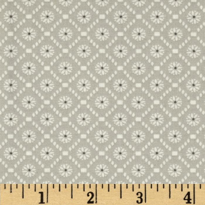 Moda Jubilee Medallion Check Grey