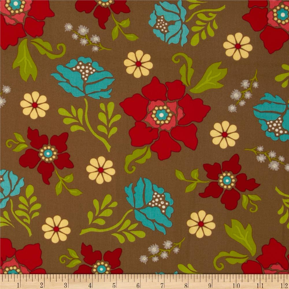 Summer House Large Floral Brown