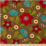 0272386 Summer House Large Floral Brown