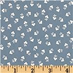 UK-319 Flannel Backed Vinyl Avondale Slate Blue
