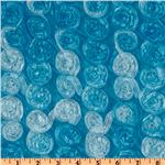 Honeycomb Satin Ribbon Rosette Taffeta Blue