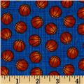 Timeless Treasures Mini Basketballs Blue