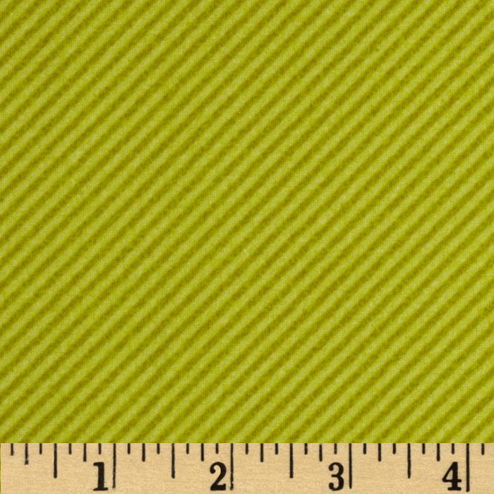 Curiosities Flannel Diagonal Stripe Pistachio