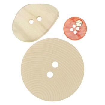 Fashion Buttons 1/2'', 1 1/8'', 1 3/8'' Coordinates Ivory/Orange