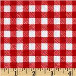 200960 Riley Blake Polka Dot Stitches Gingham Red