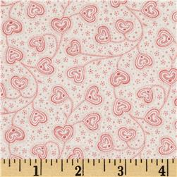 Little Sweethearts Tossed Swirl Hearts Cream/Salmon