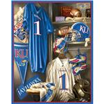 DF-013 Collegiate Fleece Locker Room Panel University Of Kansas