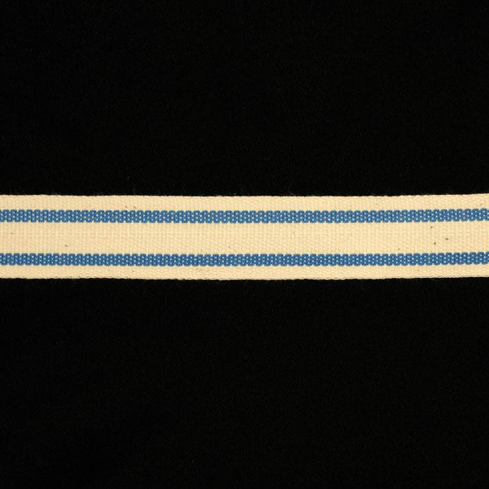 5/8&quot; Woven Ribbon Stripes Periwinkle