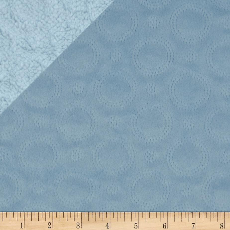 Minky Cuddle Quilted Crop Circles Light Blue