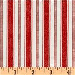 EZ-927 Michael Miller Indigo Red Rail Stripe Red