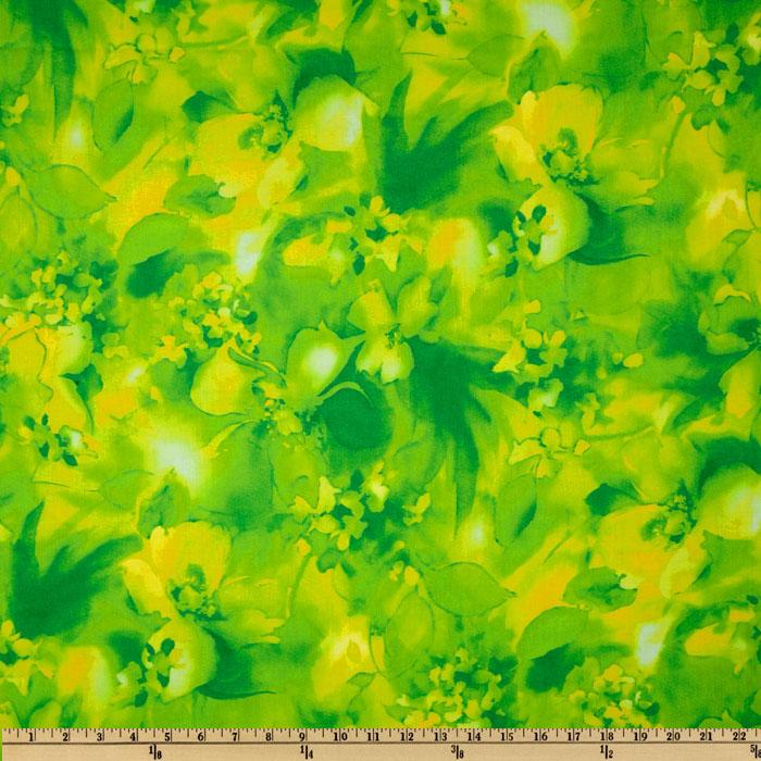 Misty Light Floral Green