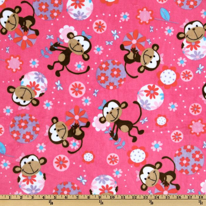 Minky Funky Monkey Cuddle Fuchsia