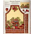Autumn Festival Paisley Apron Panel Teal