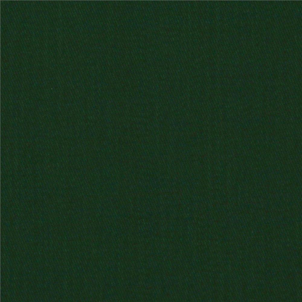 Micro Brushed Twill Hunter Green