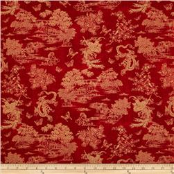 Birdsong Pearls of Wisdom Toile Red