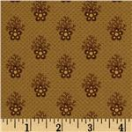 0291246 Historic Companions Floral Brown