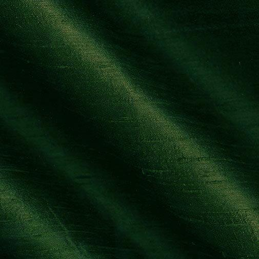 Dupioni Silk Fabric Hunter Green