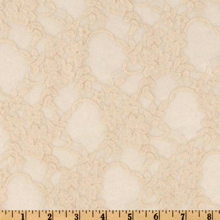 Giselle Stretch Lace Floral Champagne
