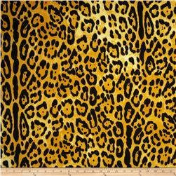 Stretch ITY Jersey Knit Cheetah Gold/Black